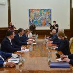武契奇和俄羅斯外交官討論組織普京總統對塞爾維亞的訪問